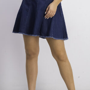 Womens Denim Skirt Dark Blue