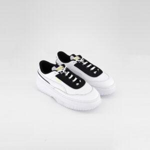 Womens Diva Chic Shoes White/Black/Dark Denim