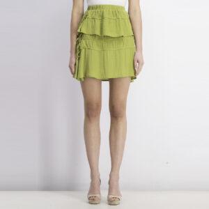 Womens Drawstring Details Skirt Pistachio