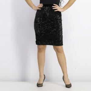 Womens Embellished Skirt Black