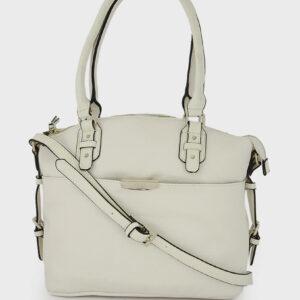 Womens Felicity Satchel Bag 33 L x 27 H x 14.5 W cm Clay Elwood/Off White