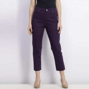 Womens Five Pocket Jeans Purple