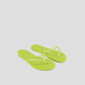 Womens Flat Slippers Neon Yellow