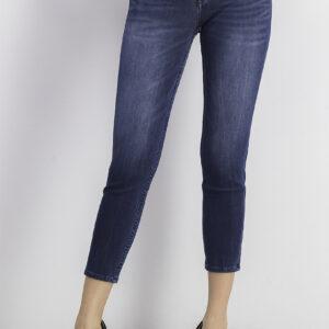 Womens High Rise Skinny Jeans Denim Navy