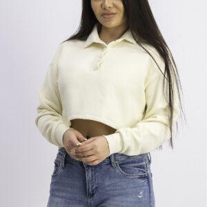 Womens Long Sleeve Plain Sweaters Beige