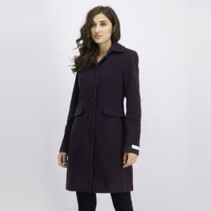 Womens Long Sleeve Trench Coat Purple