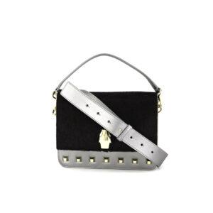 Womens Milano Small Cross Body Bag 23 L x 17 H x 6 W cm Black/Gun Metal
