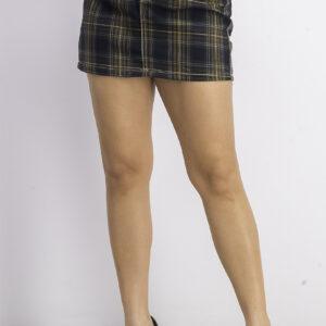 Womens Plaid Mini Skirt Navy Combo