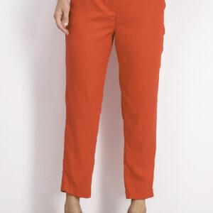 Womens Plain Pants Red