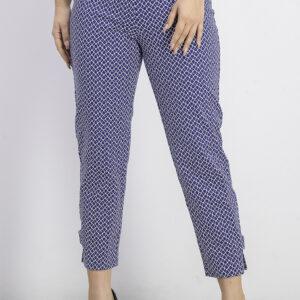 Womens Printed Capri Pants Blue/White