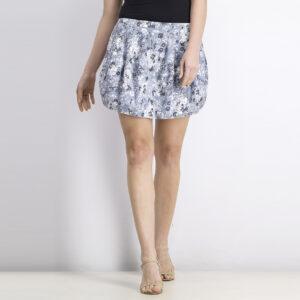 Womens Printed Skirt Ash Blue
