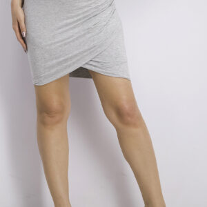 Womens Pull On Mini Skirt Grey