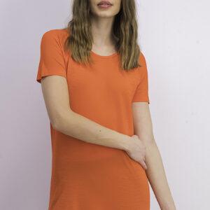 Womens Seamless Short Sleeve Shirt Red