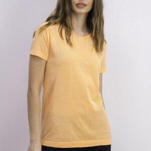 Womens Seamless Space-dye T-shirt Neon Orange