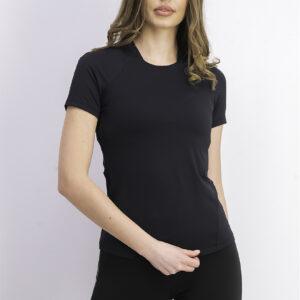 Womens Short Sleeve Rust Tops Black