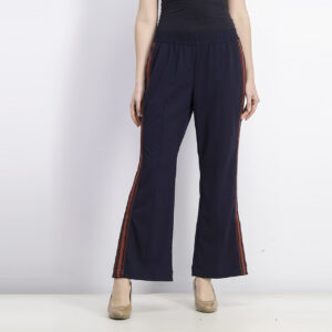Womens Stripe Pants Navy Blue/Red