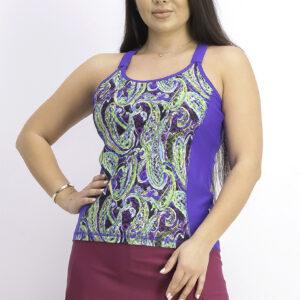 Womens Tankini Top Royal Blue