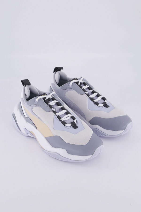 Womens Thunder Color Block Shoes White/Heather Blue