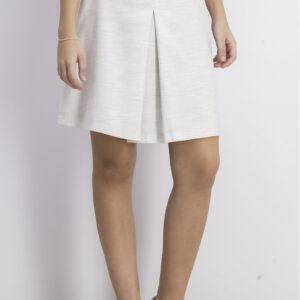 Womens Trapezoidal Skirt Light Grey